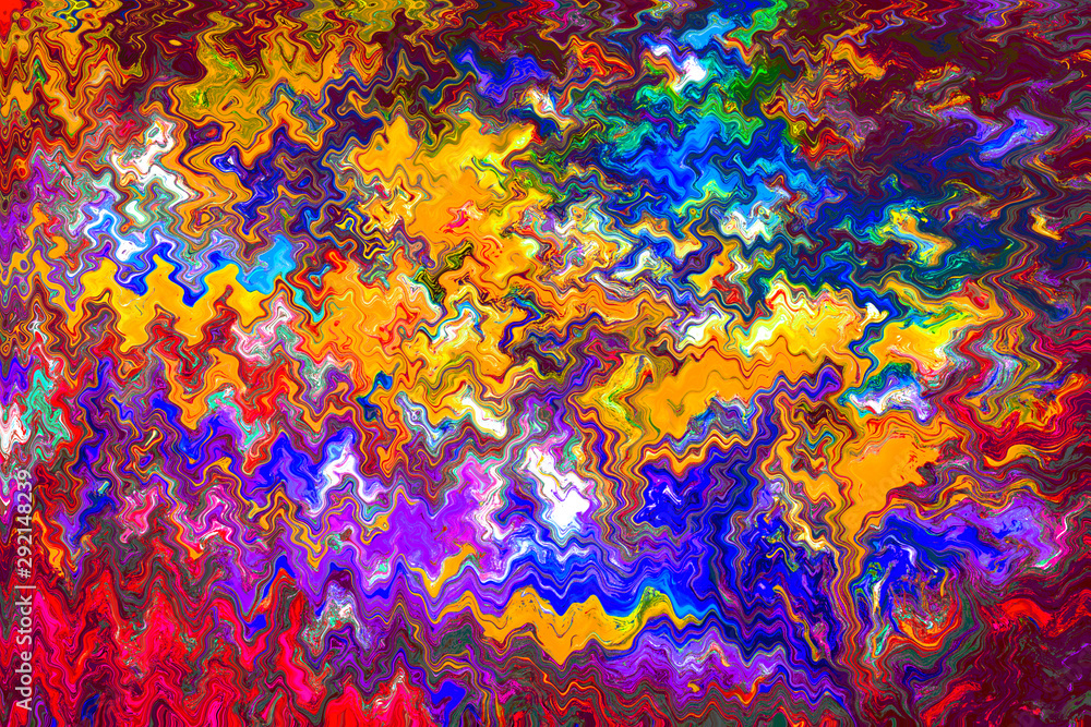 Fototapeta Abstract grunge art background texture with colorful paint splashes.