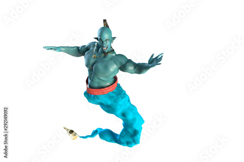 Stampa su Tela the Genie from the lamp 3D render