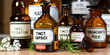 canvas print picture - Naturheilkunde - Apothekerflaschen - Naturmedizin