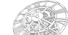 Clock, Mechanism, Sketch, 3d I...
