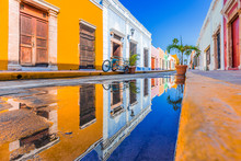 Campeche, Mexico. Street In Th...