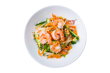 Vietnamese Shrimp Salad On Whi...