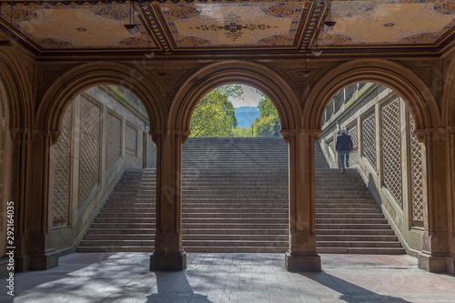 Платно The pedestrian underpass at Bethesda Terrace, Central Park, New York City