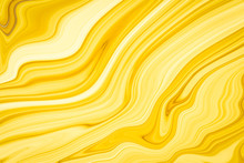 Marble Ink Colorful. Yellow Ma...