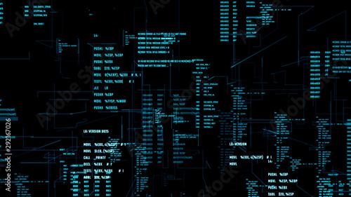 Cuadros en Lienzo Working program code in a cyberspace