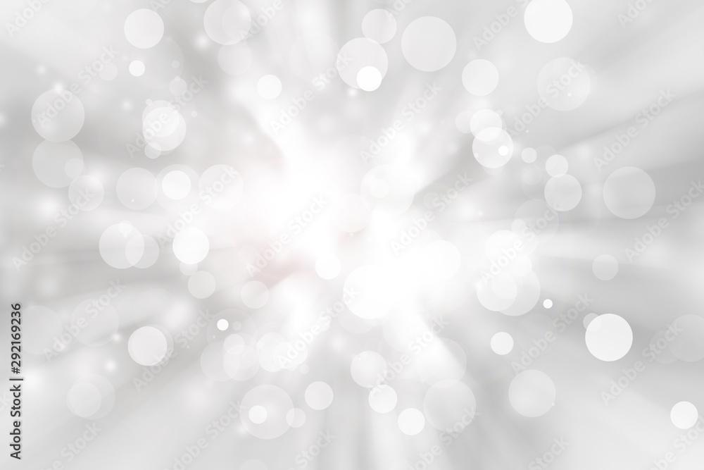 Fototapeta white blur abstract background. bokeh christmas blurred beautiful shiny Christmas lights