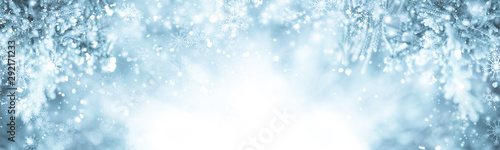 white snow blur abstract background Canvas