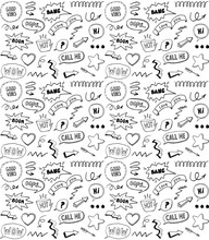 Black And White Doodle Style S...
