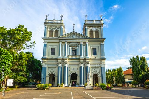 Fotografie, Obraz facade of negombo st mary church in sri lanka