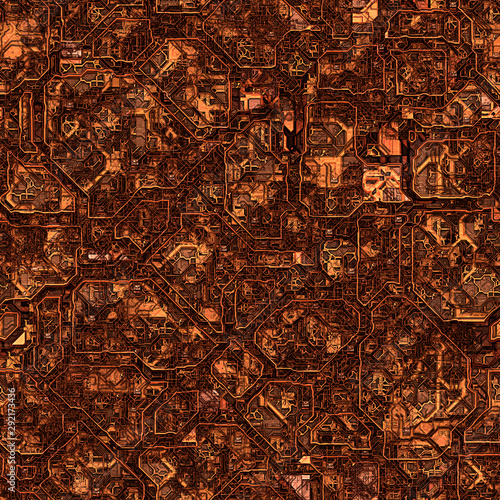 Fotografie, Obraz  steampunk industrial seamless texture for multiple uses: large format printing, commercial decoration,  set design, theming spaces, etc