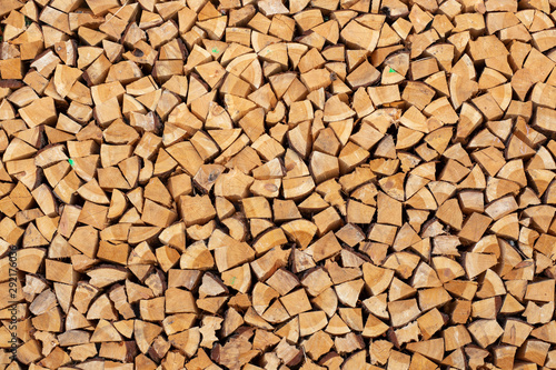 Printed kitchen splashbacks Firewood texture pile of wood background texture