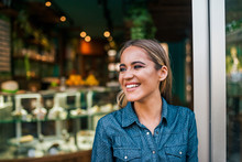 Close-up Portrait Of A Happy Small Business Owner.