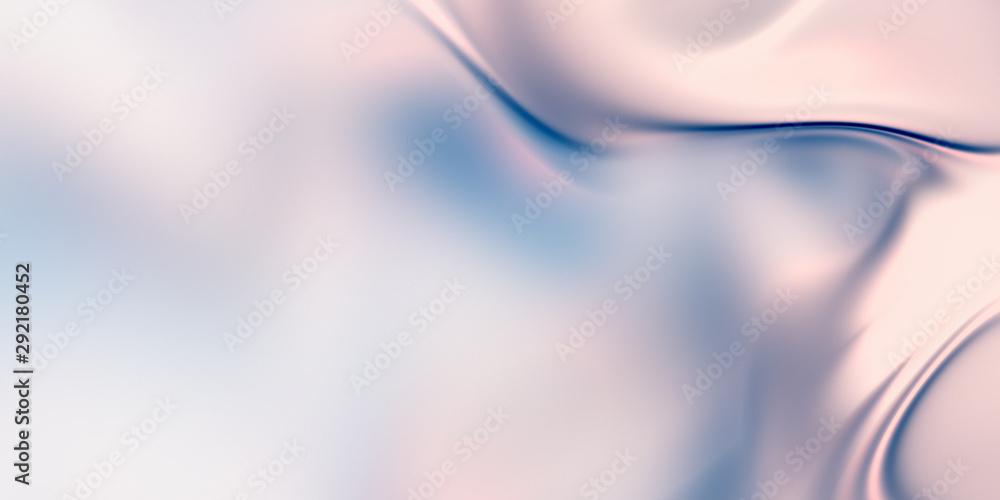 Fototapeta Pearl background. Smooth fluid texture. 3D rendering.