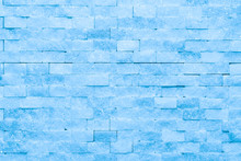 Wall Of Blue Ice Bricks And Bl...