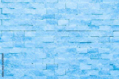 Ściana błękitna lodowa cegieł i bloków tła tekstura