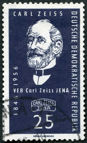 Photo  GEMANY - 1956: shows Carl Zeiss (1756-1791), Optical Works, Jena, 110th annivers