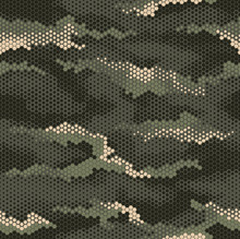 Digital Geomteric Hexagon Camouflage Pattern Repeat