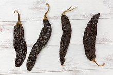 Four Pasilla Chile Peppers