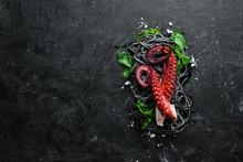 Black Pasta With Octopus Tenta...