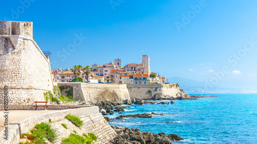 Historic center of Antibes, French Riviera, Provence, France. Wallpaper Mural