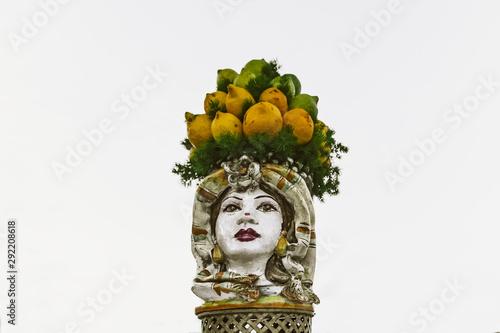 Canvastavla testa di moro donna sicilia