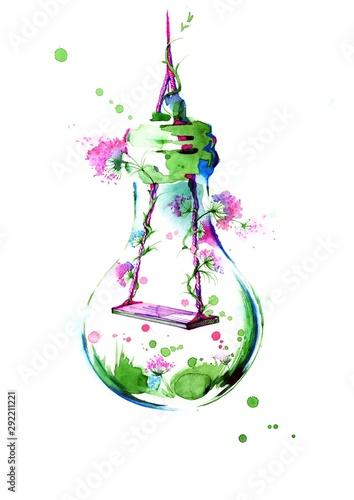 Fond de hotte en verre imprimé Peintures swing
