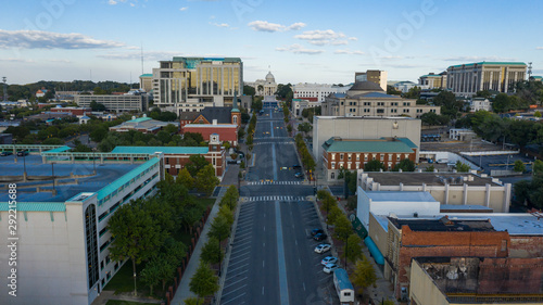 Dexter Avenue leads to the classic statehouse in downtown Montgomery Alabama Canvas Print