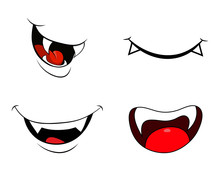 Vampire Mouth Fang Smile Set  ...