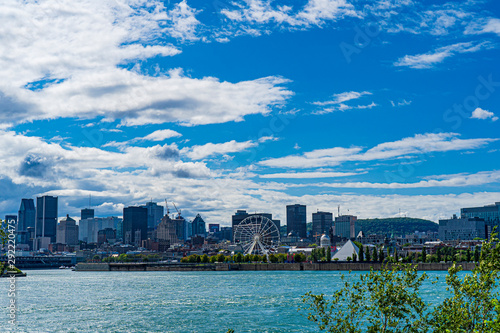 The Montreal skyline from across the Saint Lawrence River
