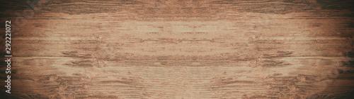 Cuadros en Lienzo  old brown dark rough wooden texture - panorama wood background