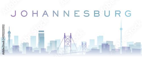 Fototapeta premium Przezroczyste warstwy Johannesburga Gradient punktów orientacyjnych Skyline