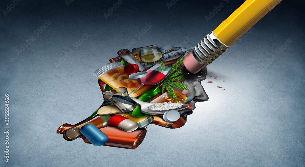 Fototapeta Drug Addiction Therapy