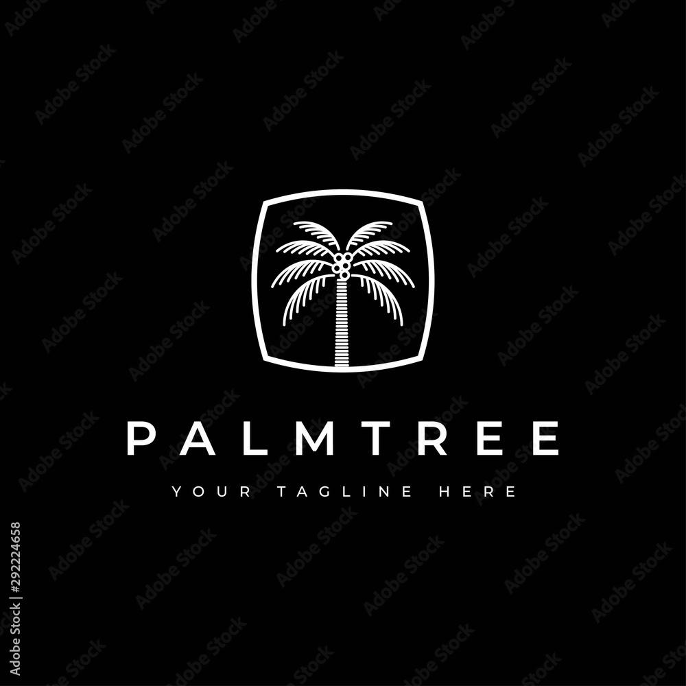 Fototapeta Coconut tree logo design.Palm tree icon