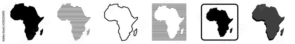 Fototapety, obrazy: Africa Map | African Border | Continent | Variations