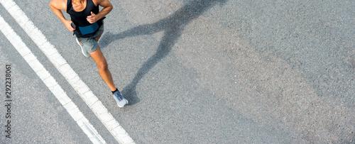 Leinwand Poster  Close up of runner feet