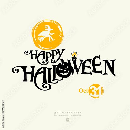 Halloween banner with vector logo Canvas-taulu