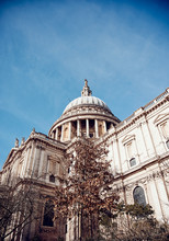 St Pauls Cathedral Against Blue Sky