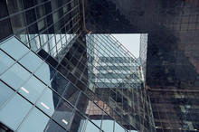 Part Of Modern Glass Building Of London