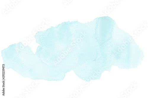 Abstract watercolor background image with a liquid splatter of aquarelle paint, isolated on white Wallpaper Mural