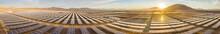 Solar Energy Photovoltaic Power Plant Over Atacama Desert Sands, Chile. Sustainability And Green Energy From The Sun With Solar Energy In The Driest Desert In The World: Atacama