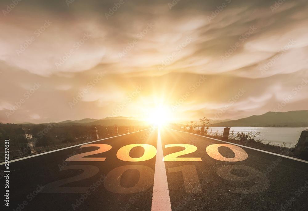 Fototapety, obrazy: Start Your Life Happy New Year 2020