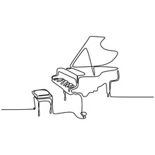 One Line Drawing Piano Music I...