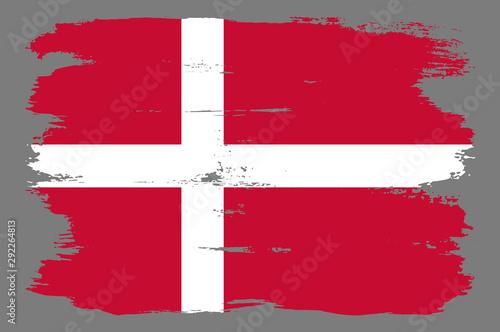 Wallpaper Mural Red Danish flag with white cross.