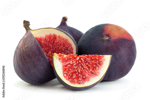 Foto auf AluDibond Natur Purple fig fruit closeup