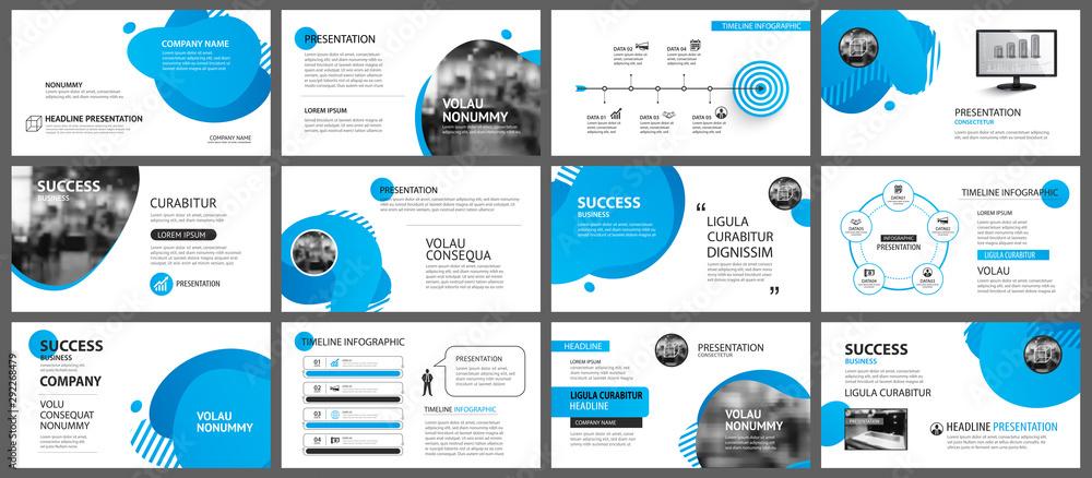 Fototapeta Presentation and slide layout background. Design blue gradient geometric template. Use for business annual report, flyer, marketing, leaflet, advertising, brochure, modern style.
