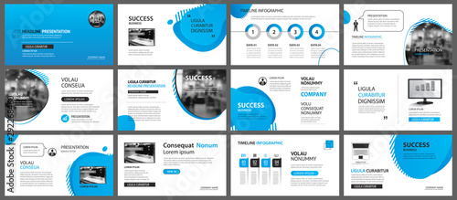 Fototapeta Presentation and slide layout background. Design blue gradient geometric template. Use for business annual report, flyer, marketing, leaflet, advertising, brochure, modern style. obraz