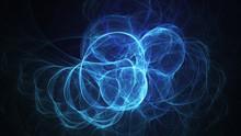 Abstract Transparent Blue Crystal Shapes. Fantasy Light Background. Digital Fractal Art. 3d Rendering.