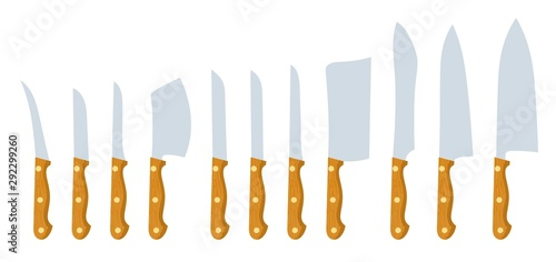 Fotomural Knives on a white background