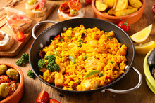 Cooking Pan With Paella With S...
