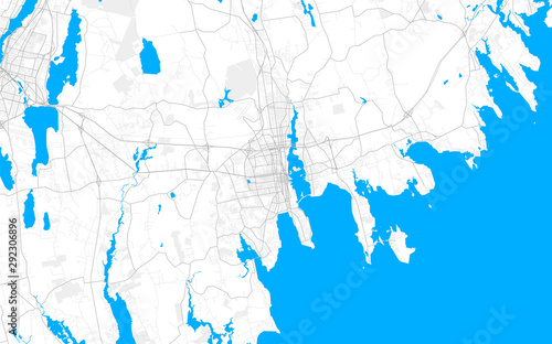 Photo Rich detailed vector map of New Bedford, Massachusetts, USA